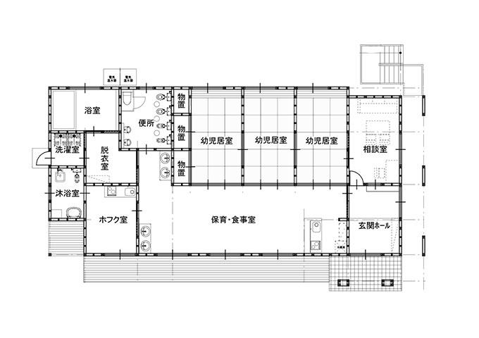 幼児棟1階平面図
