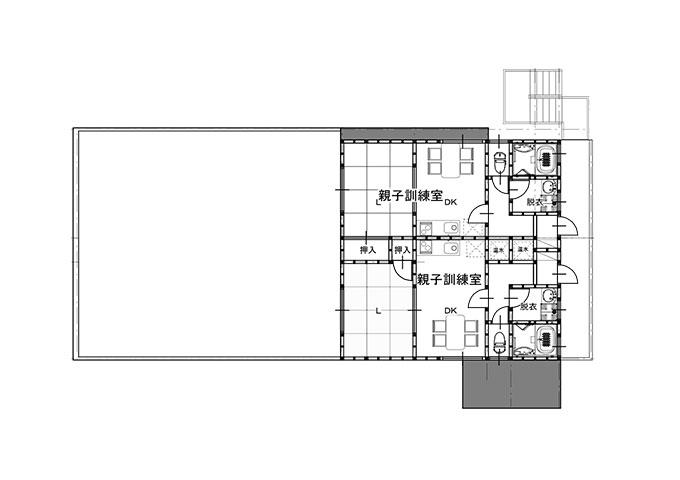 幼児棟2階平面図